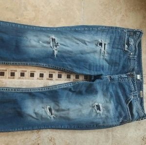 Comfy size 22 silver jeans